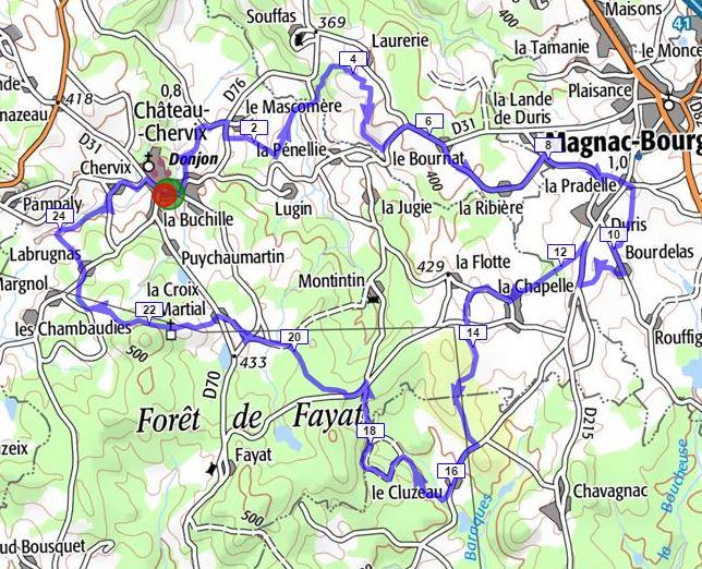 Sortie vtt du 20 dec 2015 27 km